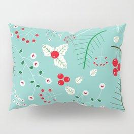 Mistletoe Acqua Pillow Sham