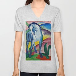 "Franz Marc ""Blue Horse I"" Unisex V-Neck"