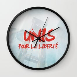 Unis pour la liberté Wall Clock
