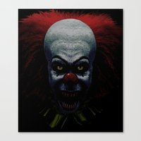 pennywise Canvas Prints featuring Pennywise by John Medbury (LAZY J Studios)