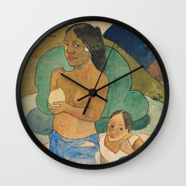 Two Tahitian Women in a Landscape (ca. 1892) by Wall Clock