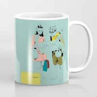 moonrise Mugs featuring Moonrise by la belette rose