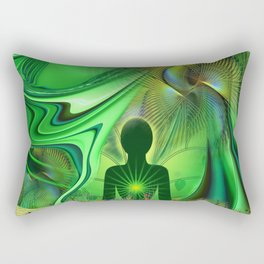 Heart Chakra Energy. Rectangular Pillow