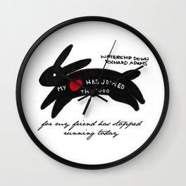 Inktober 2015: Rabbit hearted Wall Clock