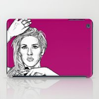 ellie goulding iPad Cases featuring Ellie Goulding by Sharin Yofitasari