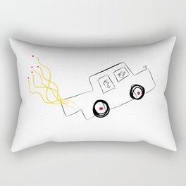 going to heaven in a Rolls Rectangular Pillow