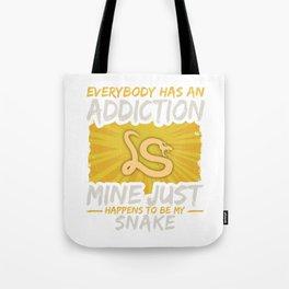 Snake Addiction Funny Farm Animal Lover Tote Bag