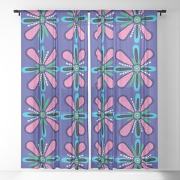 Pearly Pink and Purple Sheer Curtain