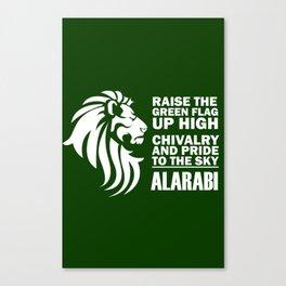 Slogan AlArabi Canvas Print