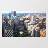 philadelphia Area & Throw Rugs featuring Philadelphia City by GF Fine Art Photography