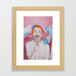 Lip Fillers Framed Art Print