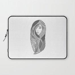 zentangle portrait 3 Laptop Sleeve