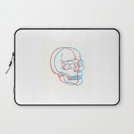 3D Skull Illustration - 3D Skull Print - Three Dimensional Skull Illustration - Skull Drawing Laptop Sleeve