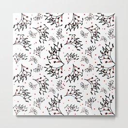 Mistletoe Pattern Metal Print