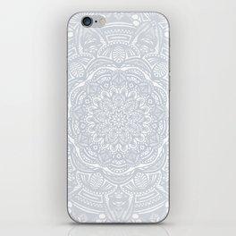 Light Gray Ethnic Eclectic Detailed Mandala Minimal Minimalistic iPhone Skin