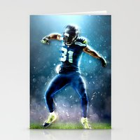 seahawks Stationery Cards featuring SEAHAWKS POWER by THEMAD3