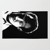 gore Area & Throw Rugs featuring Vincent Price by Zombie Rust