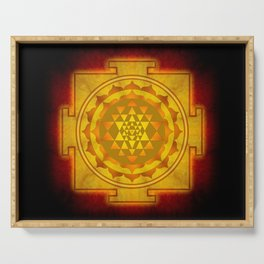 Sri Yantra I Serving Tray