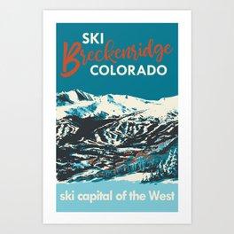 Breckenridge Vintage Ski Poster Art Print