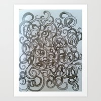 Swirling Shades Art Print
