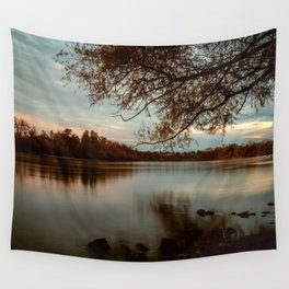 Subdued Sunset on the Sacramento River Wall Tapestry