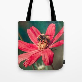 Pollen Collection II. Bee Photograph Tote Bag