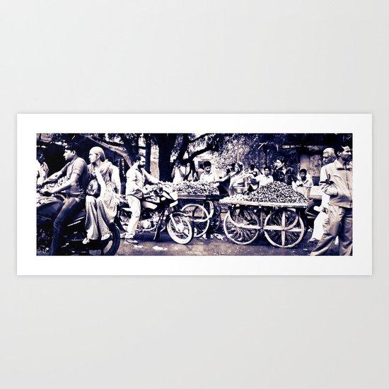 Street Scene-  Rajasthan India Art Print