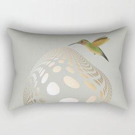 Hummingbird and Bubble Rectangular Pillow