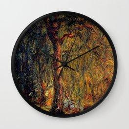 Claude Monet Weeping Willow 1919 Wall Clock