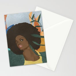 Afro lady #art print#society6 Stationery Cards