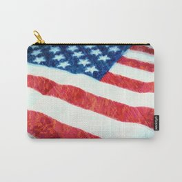 American Flag Textured Carry-All Pouch