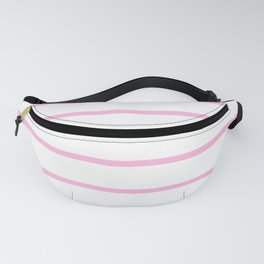 Horizontal Lines (Pink & White Pattern) Fanny Pack
