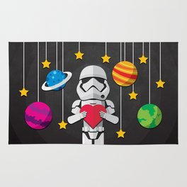 Stormtrooper in Love Rug