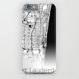 City Neck Gaiter Fort Lauderdale Florida Map Neck Gator iPhone Case
