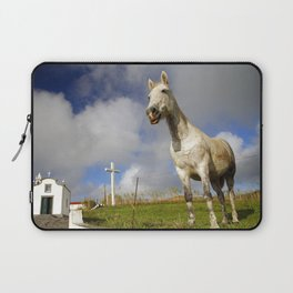 Horse and chapel Laptop Sleeve