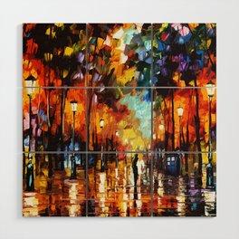 Tardis Art And The Couple Starry Night Wood Wall Art