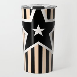 The Greatest Star! Black and Cream Travel Mug