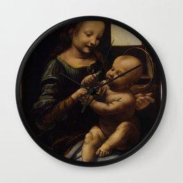 "Leonardo da Vinci ""Madonna and the Child (The Benois Madonna)"" Wall Clock"