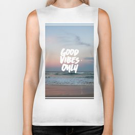 Good Vibes Only Beach and Sunset Biker Tank