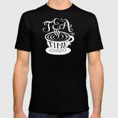 Tea Time Mens Fitted Tee Black 2X-LARGE