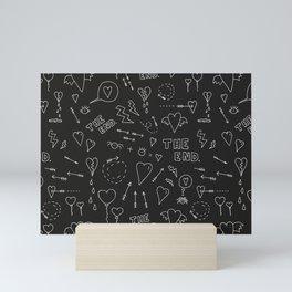 secret diary - doodle blackboard love print Mini Art Print
