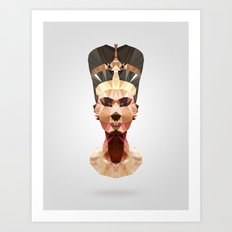 Polygon Heroes - Nefertiti Art Print