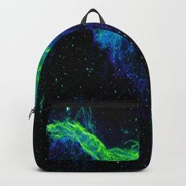 Veil Nebula Green Blue Backpack