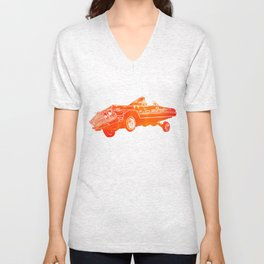 Orange Lowrider Unisex V-Neck