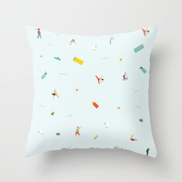 Yoga People Throw Pillow