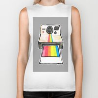 polaroid Biker Tanks featuring Polaroid by daniel davidson