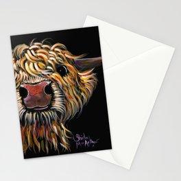 Scottish Highland Cow ' POPEYE ' by Shirley MacArthur Stationery Cards