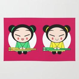 Funny Japanese Girls Rug