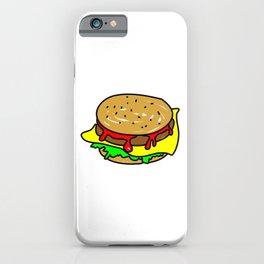 Cheeseburger Doodle iPhone Case