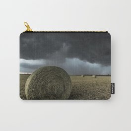 Fade Away - Round Hay Bales in Storm in Oklahoma Carry-All Pouch